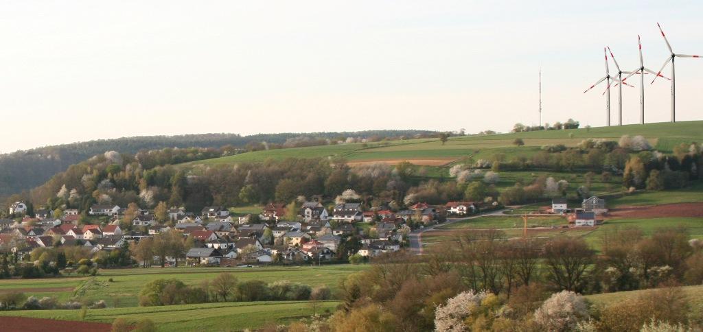 Fotomontage der Windkraftanlage Blieskastel-Webenheim