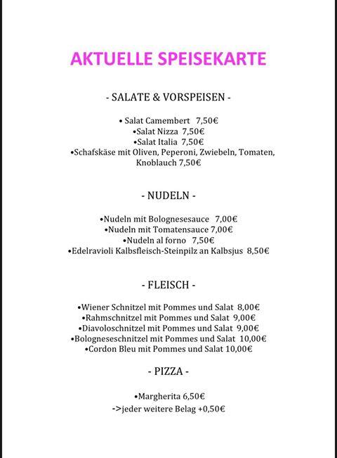 Reiterklause Webenheim Speisekarte